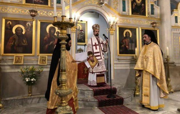 Αρχιερατική θεία Λειτουργία στην Ελληνορθόδοξη εκκλησία στη Μασσαλία