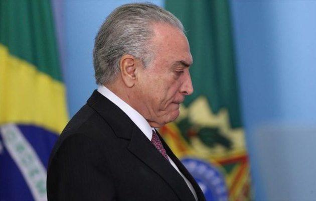 Συνελήφθη για διαφθορά ο πρώην πρόεδρος της Βραζιλίας Μισέλ Τεμέρ
