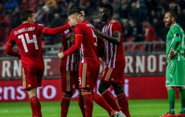 Ο Ολυμπιακός νίκησε με 2-1 τον Παναιτωλικό και πέρασε δεύτερος στη βαθμολογία