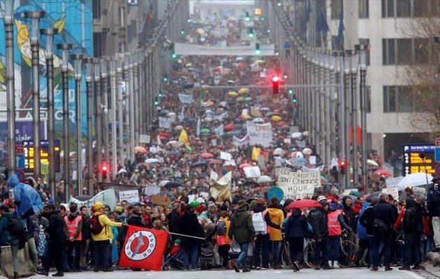 Ξεσηκώθηκαν στο Βέλγιο για το περιβάλλον – 70.000 διαδηλωτές στους δρόμους