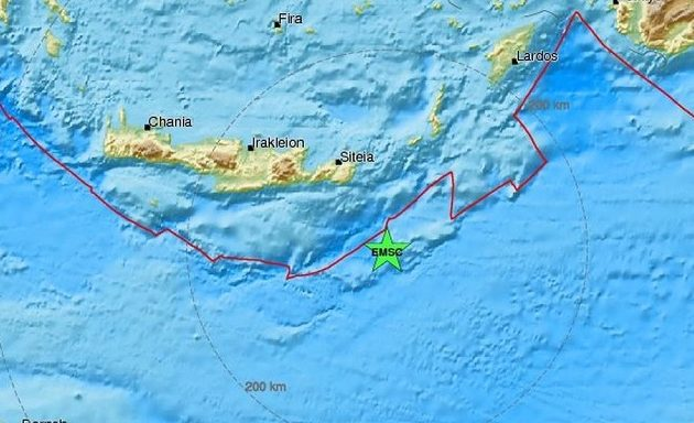 Σεισμός 4,4 Ρίχτερ ανοιχτά της Κρήτης