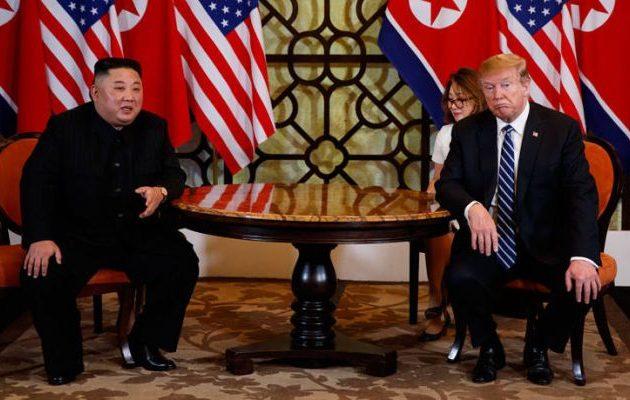 Ανατροπή: «Χωρίς συμφωνία» η σύνοδος Τραμπ-Κιμ στο Βιετνάμ