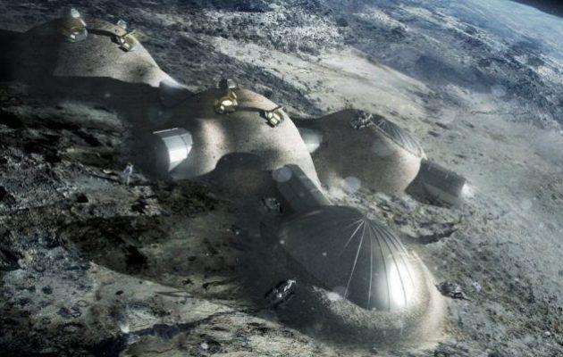 Ο Άγγελος Χρυσοβαλάντης-Αλφατζής σχεδιάζει ένα χωριό μέσα σε κρατήρα της Σελήνης