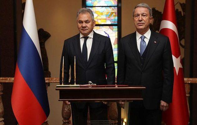 Ο Ρώσος υπουργός Άμυνας συναντήθηκε με τον Τούρκο και συζήτησαν για τη Συρία