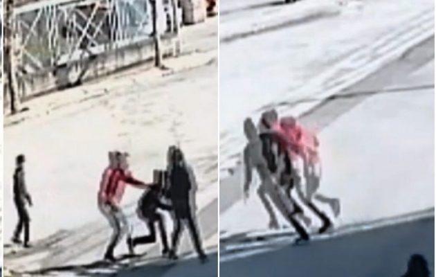 Βίντεο-σοκ: Άγρια επίθεση ανήλικων Ρομά σε γυναίκα στη Θήβα