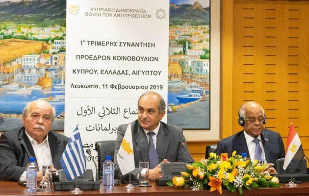 Η 2η Τριμερής των προέδρων των Κοινοβουλίων Ελλάδος, Κύπρου και Αιγύπτου στην Αθήνα