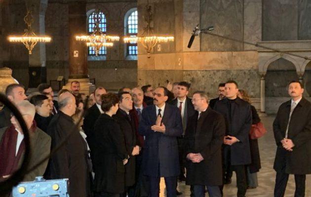 Ο Αλέξης Τσίπρας στην Αγία Σοφία στην Κωνσταντινούπολη (βίντεο)