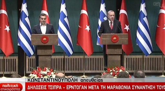 Διάλογο για την μείωση της έντασης στο Αιγαίο εξήγγειλε ο Τσίπρας