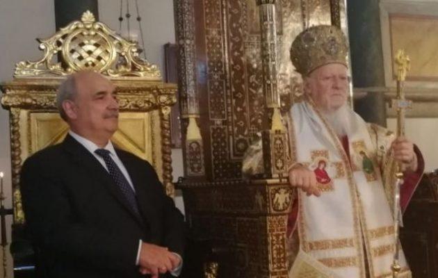 Ο Μπόλαρης στο Φανάρι για την Κυριακή της Ορθοδοξίας