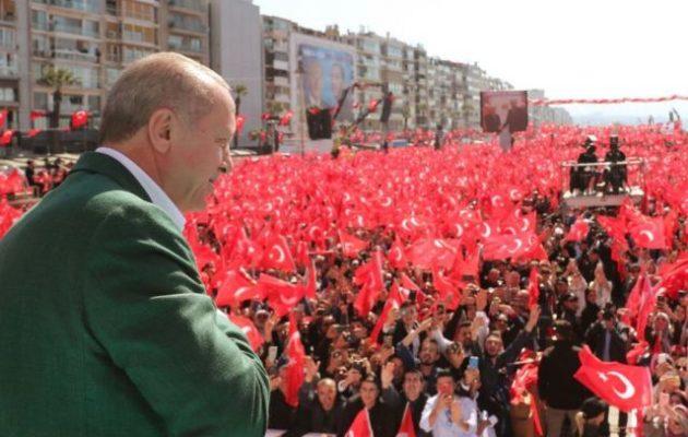 Παλάβωσε πάλι ο Ερντογάν: «Σμύρνη που ρίχνεις τους γκιαούρηδες στη θάλασσα»