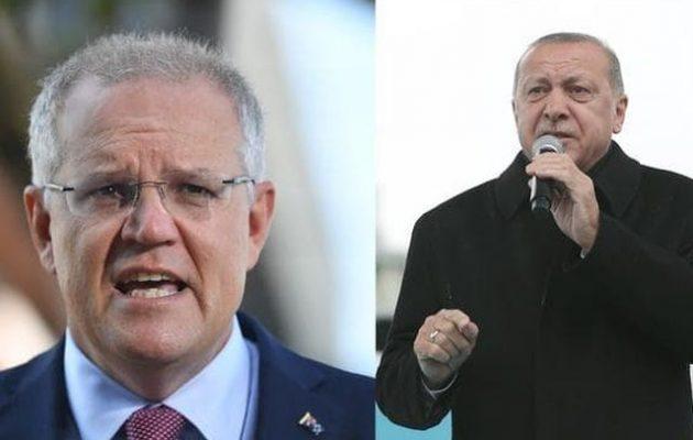 «Προσβεβλημένος» ο πρωθυπουργός της Αυστραλίας από τον Ερντογάν