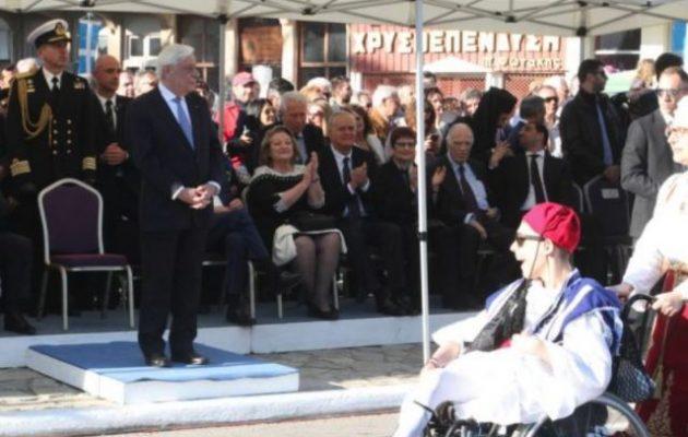 Με εντολή Παυλόπουλου το «Μακεδονία Ξακουστή» στην παρέλαση στην Καλαμάτα (βίντεο)