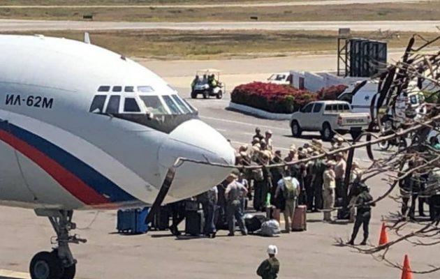 Ρωσικό πολεμικό αεροσκάφος προσγειώθηκε τη Δευτέρα στο Καράκας