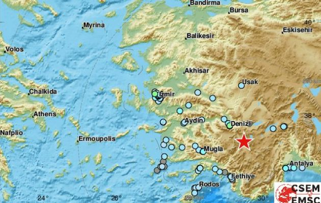 Ισχυρός σεισμός στη νοτιοδυτική Τουρκία