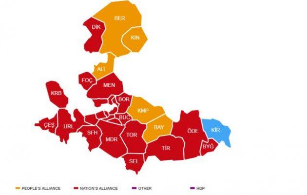 Εκλογές Τουρκία: Ο Ερντογάν φαίνεται ότι χάνει τη Σμύρνη – Αποτελέσματα