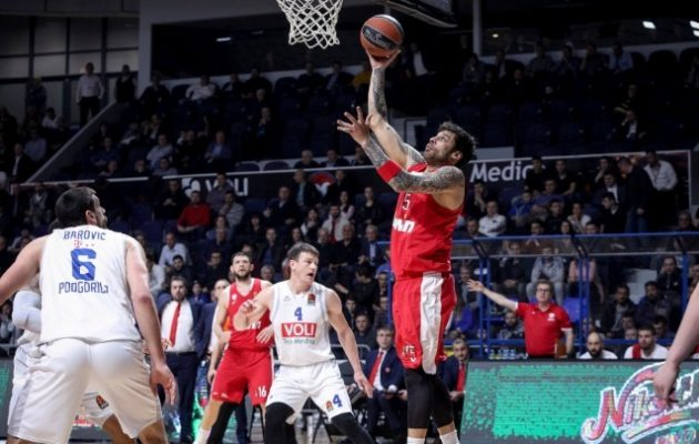 Euroleague: Επιτέλους νίκη για τον Ολυμπιακό 89-76 την Μπουντούτσνοστ
