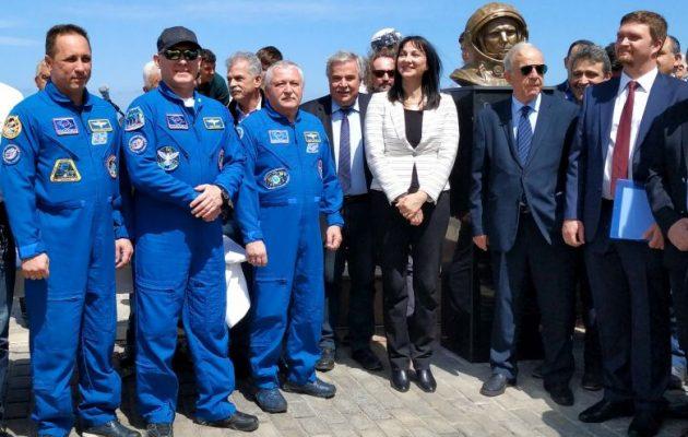 Η Κουντουρά εγκαινίασε παρουσία εν ενεργεία Ρώσων κοσμοναυτών το πάρκο «Γιούρι Γκαγκάριν» στην Κρήτη