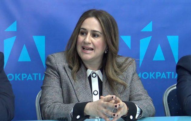 «Μούσκεμα» τα έκανε η κόρη της Παναγιωταρέα, υποψήφια της ΝΔ, για τη Βόρεια Μακεδονία (βίντεο)