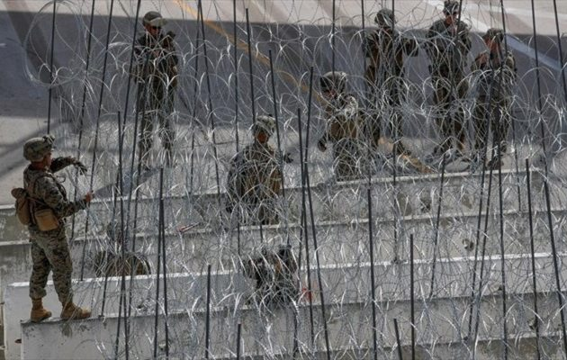 Ο Τραμπ ανακοίνωσε ότι στέλνει στρατό στα σύνορα με το Μεξικό