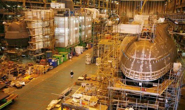 Εκκενώθηκε ναυπηγείο λόγω προειδοποίησης για βόμβα σε πυρηνικό υποβρύχιο