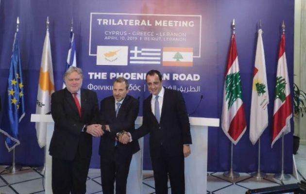 Τριμερής Ελλάδας, Κύπρου, Λιβάνου στη Βηρυτό