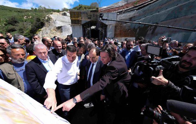 Τσίπρας: «Ξεβαλτώσαμε» το έργο που περιμένει με ανυπομονησία όλη η Κρήτη (φωτο)