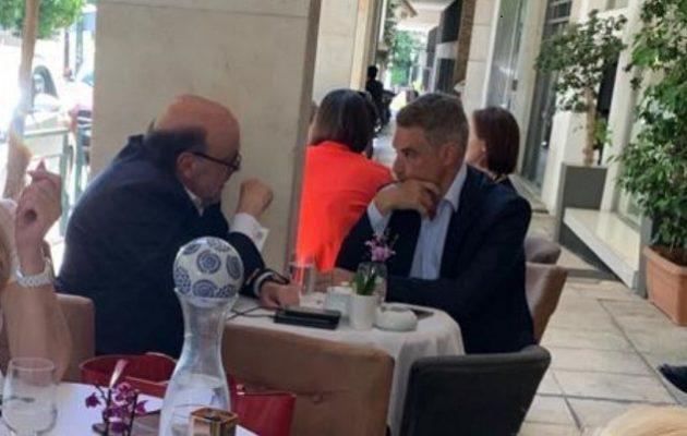 Τα είπαν πίνοντας καφέ στο Κολωνάκι Σπηλιωτόπουλος και Αντώναρος