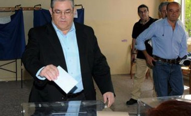 Ψήφισε ο Δημήτρης Κουτσούμπας: Ο ελληνικός λαός να δυναμώσει τη δική του φωνή