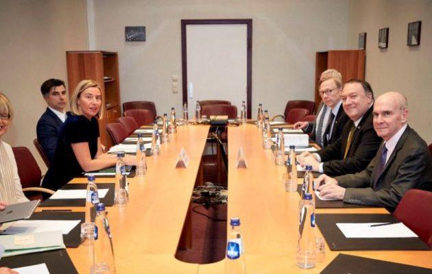 Ο Πομπέο αναζητά συμμάχους ενάντια στο Ιράν αλλά οι Ευρωπαίοι δεν θέλουν πόλεμο