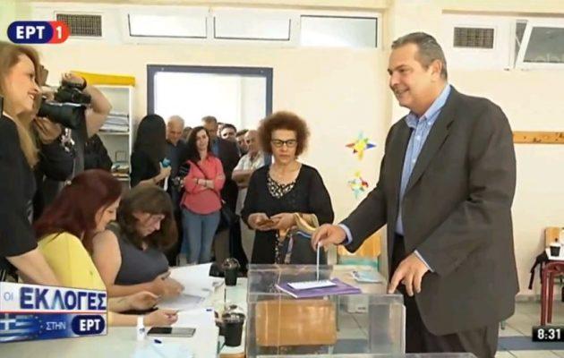 Καμμένος: «Στην Ευρωβουλή να εκλεγούν άνθρωποι που θέλουν να υπηρετήσουν την Ελλάδα»