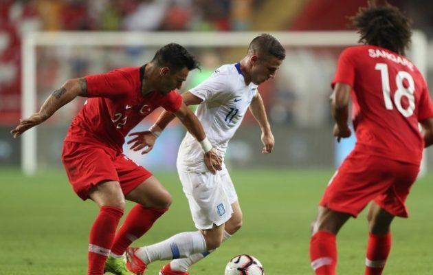Η Εθνική Ελλάδας έχασε 2-1 από την Τουρκία στην Αττάλεια