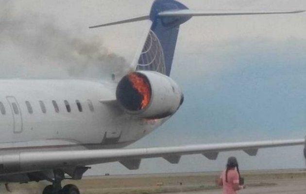 Συναγερμός στο αεροδρόμιο του Ηρακλείου: Έπιασε φωτιά κινητήρας αεροσκάφους