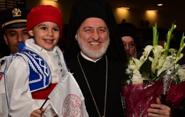 Θερμή υποδοχή στον Αρχιεπίσκοπο Ελπιδοφόρο στο Αεροδρόμιο Κένεντι