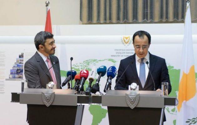 Ισχυρή η συμμαχία της Κύπρου με τα Ηνωμένα Αραβικά Εμιράτα