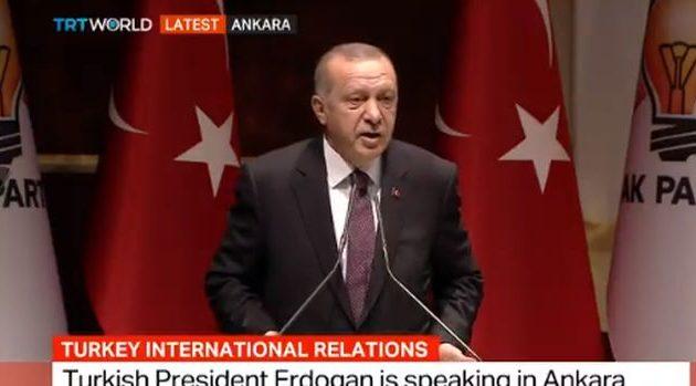Ερντογάν: «Δεν θα ρωτήσω κανέναν!» – Και γεωτρήσεις στην κυπριακή ΑΟΖ και S-400
