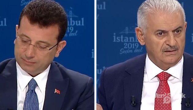 Κούρδος (Γιλντιρίμ) εναντίον «Πόντιου» (Ιμάμογλου) στο ντιμπέιτ για δήμαρχος της Πόλης