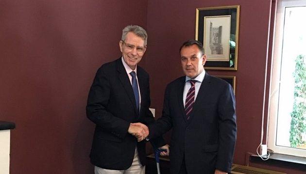 Ο υπουργός Άμυνας επισκέφθηκε τον Αμερικανό Πρέσβη – Τι δήλωσε ο κ. Πάιατ