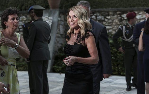Η Στάη έσκασε στα γέλια με τον Μητσοτάκη στο Προεδρικό Μέγαρο