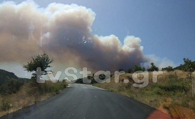 Μεγάλη φωτιά στην Εύβοια: Εκκενώθηκε χωριό – Επί ποδός η Πυροσβεστική