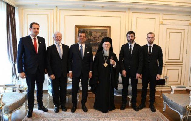Συνάντηση του Οικ. Πατριάρχη με τον νέο Δήμαρχο της Κωνσταντινούπολης