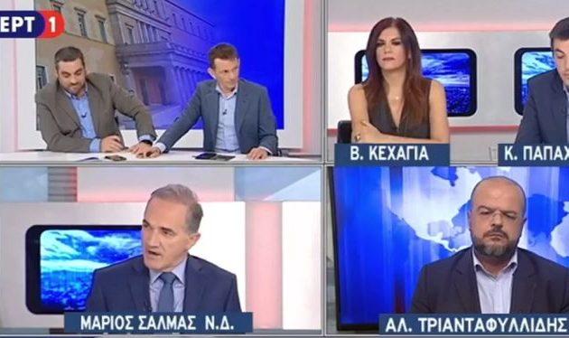 Ο Σαλμάς βγήκε σε εκπομπή της ΕΡΤ και τσακώθηκε με τους δημοσιογράφους (βίντεο)