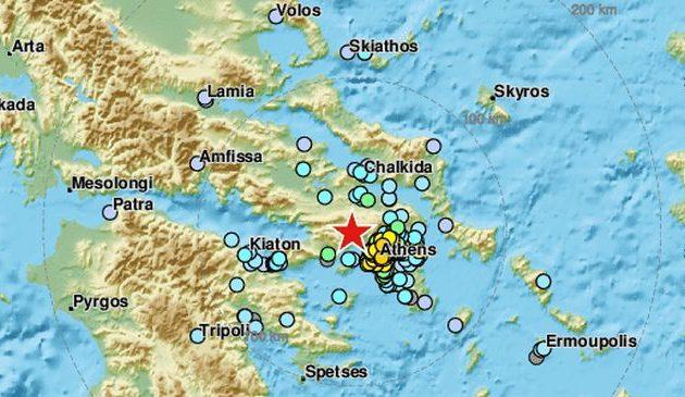 Ισχυρός σεισμός τράνταξε την Αθήνα στις 14.13