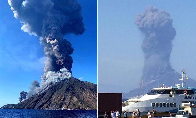 Εξερράγη το ηφαίστειο Στρόμπολι στην Ιταλία – Τουρίστες έπεφταν στη θάλασσα