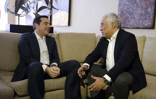 Με τον πρωθυπουργό της Πορτογαλίας συναντήθηκε ο Αλέξης Τσίπρας