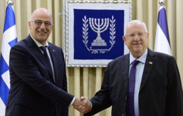 Δένδιας από Ισραήλ: Οι διμερείς σχέσεις μας είναι εξαιρετικές (βίντεο)