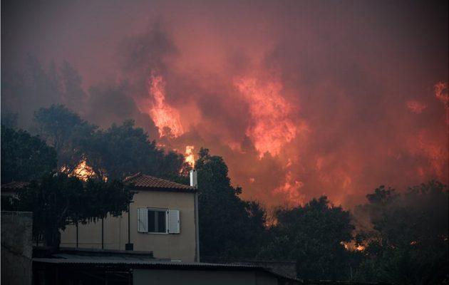 Εύβοια: Αντιπυρικές ζώνες για να περιοριστούν τα μέτωπα της τεράστιας φωτιάς – Εκκενώνεται χωριό (βίντεο)