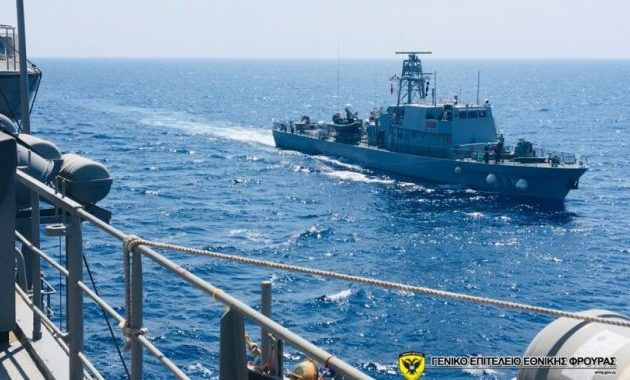 Κοινή άσκηση του Πολεμικού Ναυτικού μας με τα σκάφη της Ναυτικής Διοίκησης Κύπρου