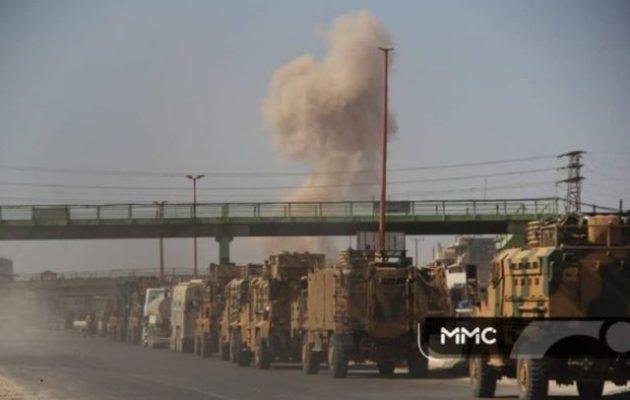 Ρώσοι και Σύροι βομβάρδισαν τουρκική στρατιωτική φάλαγγα (βίντεο) – Σοκαρισμένοι οι Τούρκοι