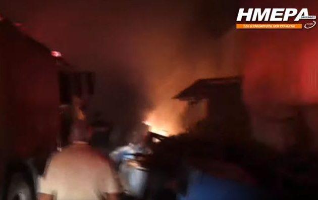 Η Ζάκυνθος στις φλόγες – Μεγάλη φωτιά ξέσπασε ενώ ορκιζόταν η νέα δημοτική Αρχή