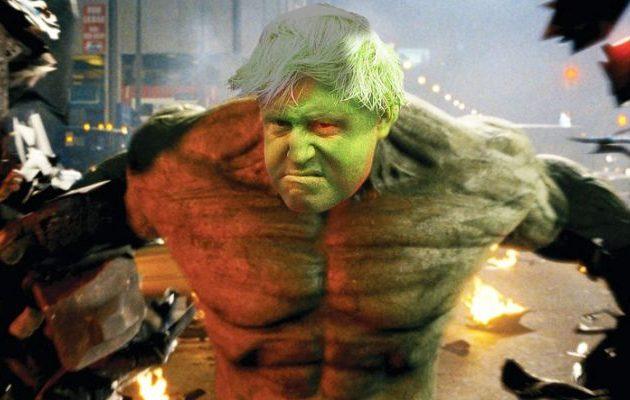 Ο Μπόρις Τζόνσον δήλωσε ότι θα αποδράσει από την ΕΕ όπως «Ο Απίθανος Χαλκ»